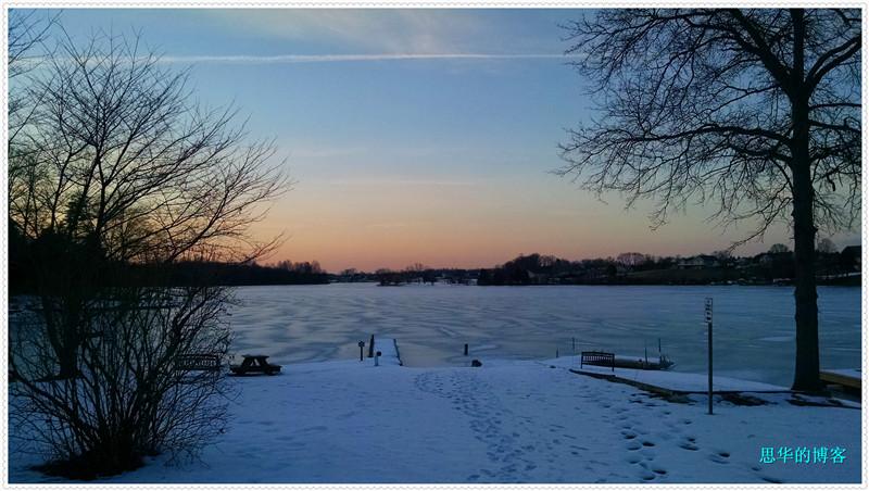 罕见冰冻的安娜湖_图1-11
