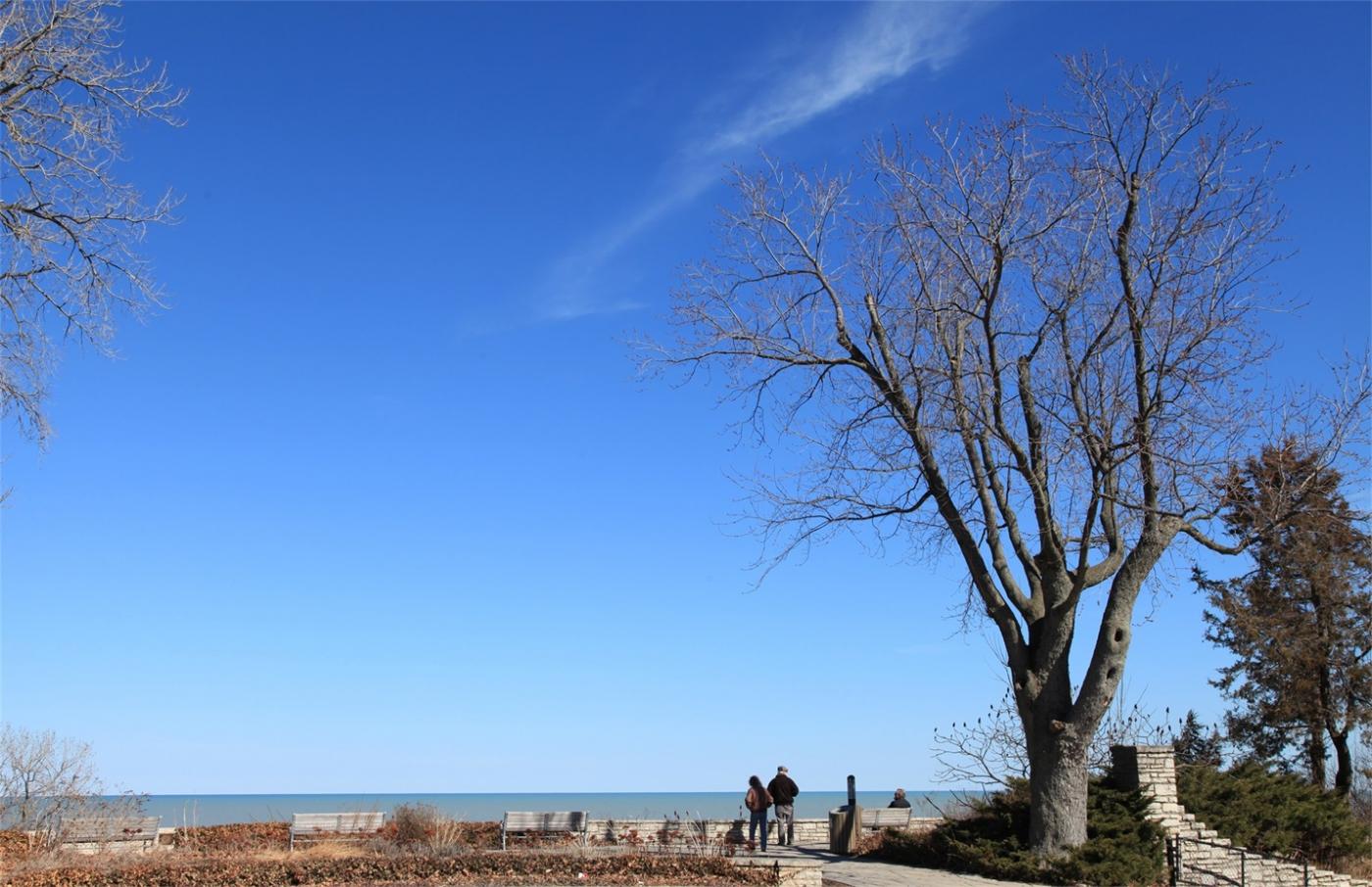 早春的密歇根湖