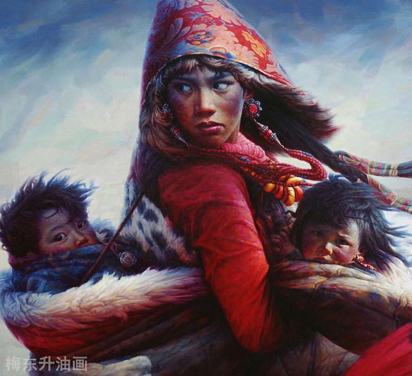 雪原让生命更纯粹                          --------创作思路.梅东升油画 ... ..._图1-2