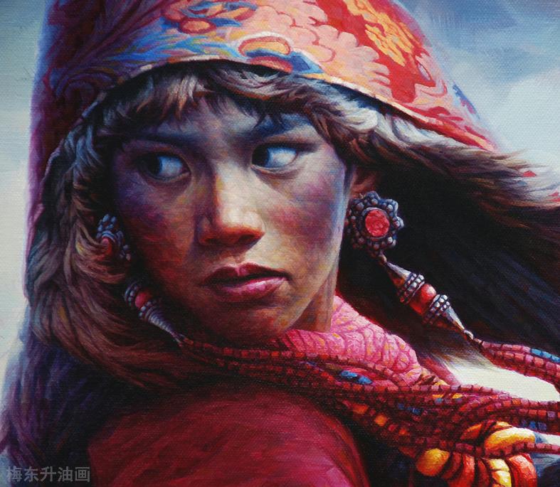 雪原让生命更纯粹                          --------创作思路.梅东升油画 ... ..._图1-3