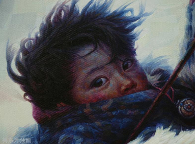 雪原让生命更纯粹                          --------创作思路.梅东升油画 ... ..._图1-5
