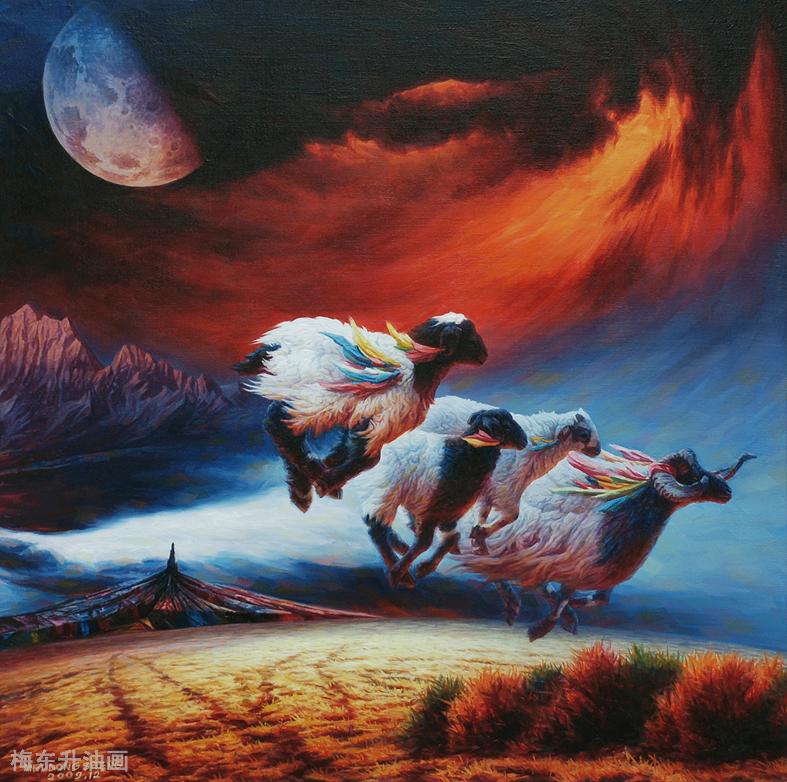 雪原让生命更纯粹                          --------创作思路.梅东升油画 ... ..._图1-16