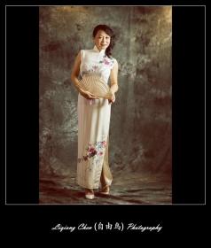 【自由鸟】穿旗袍的女人, 柔软典雅性感