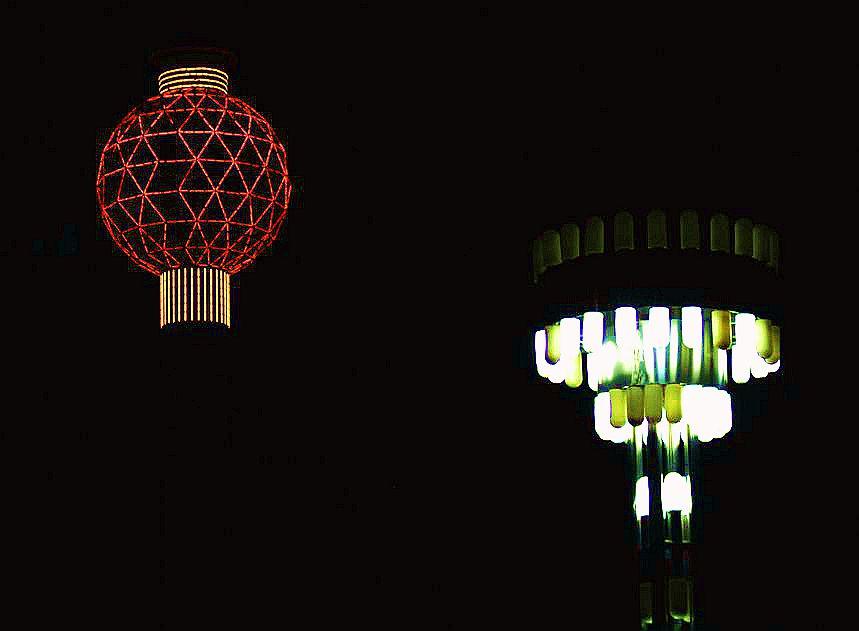 流光溢彩夜公园