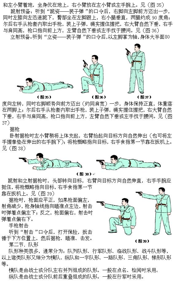单兵动作、队列和战斗队形_图1-5