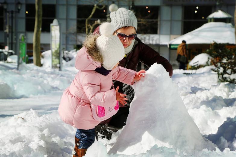 【田螺摄影】堆雪人、就是她们