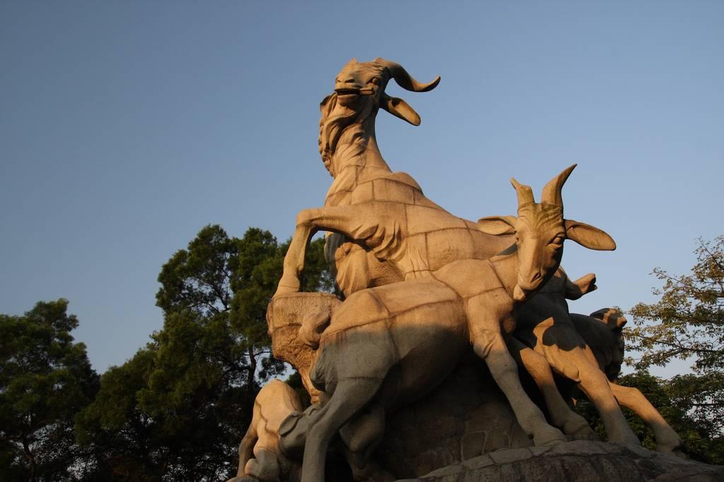 【四格照片】五羊雕像_图1-2