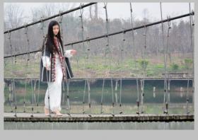 中华紫薇园植树节之女模