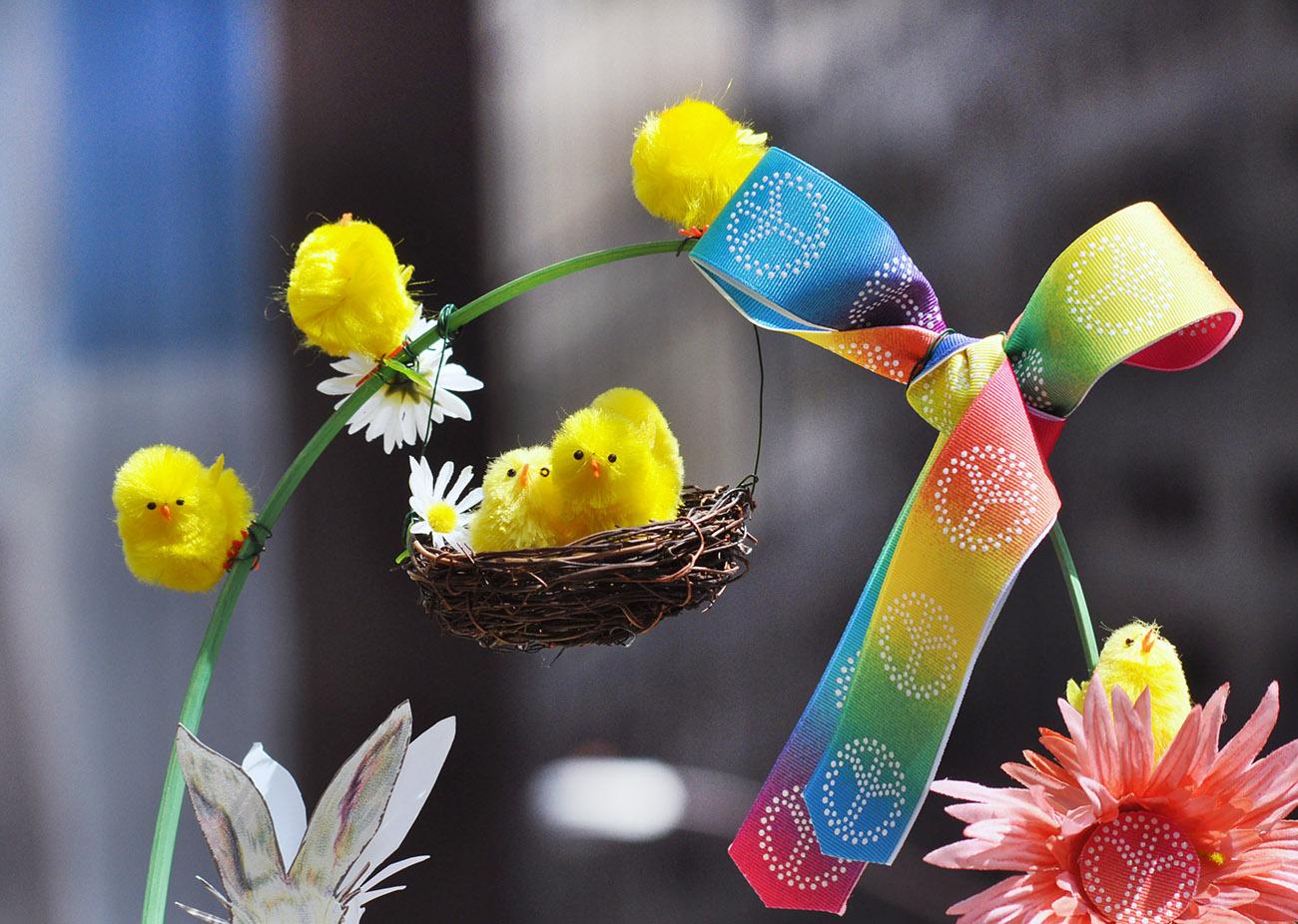 复活节---那些在帽子上说着春