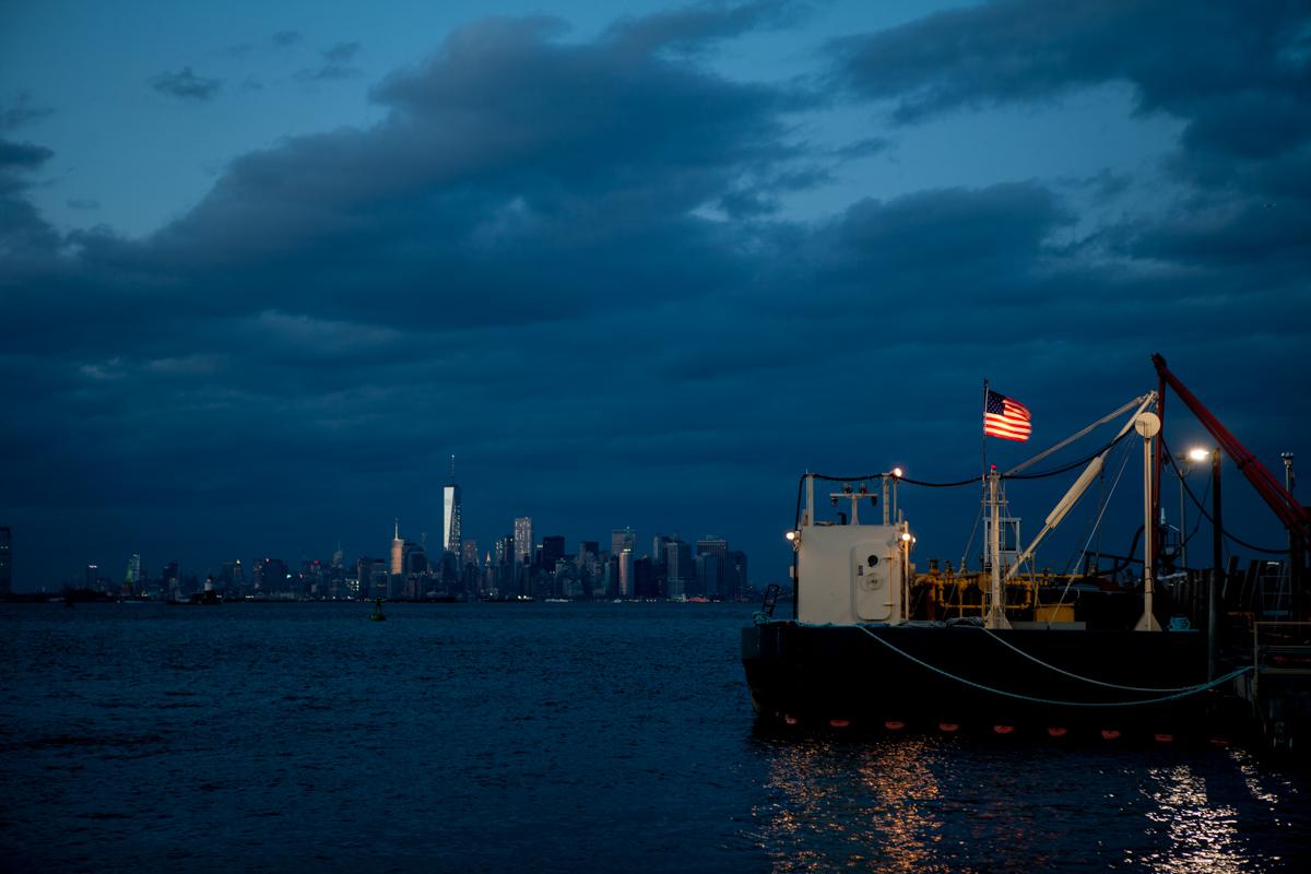 傍晚遥望曼哈顿拍摄练习160408