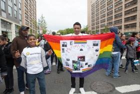 第一次参加纽约艾滋病慈善步行AIDS WALK 16