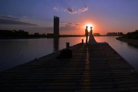 浪漫之夜--蹭拍婚纱
