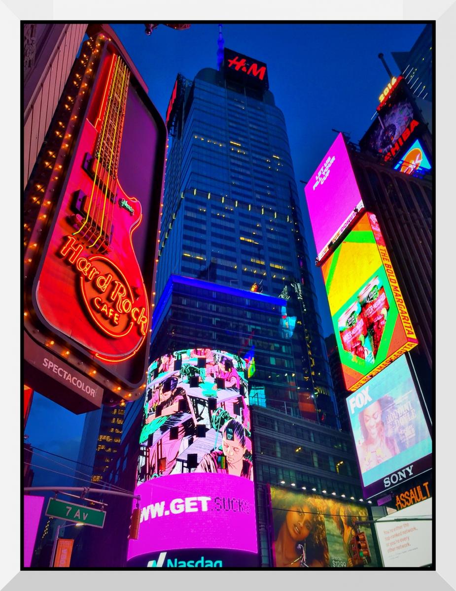 【盲流摄影】曼哈顿42街时报广场(手机扫街)_图1-2
