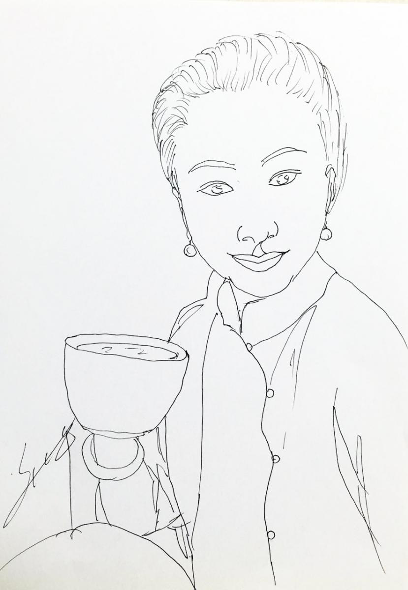 海边咖啡屋的女人_图1-1