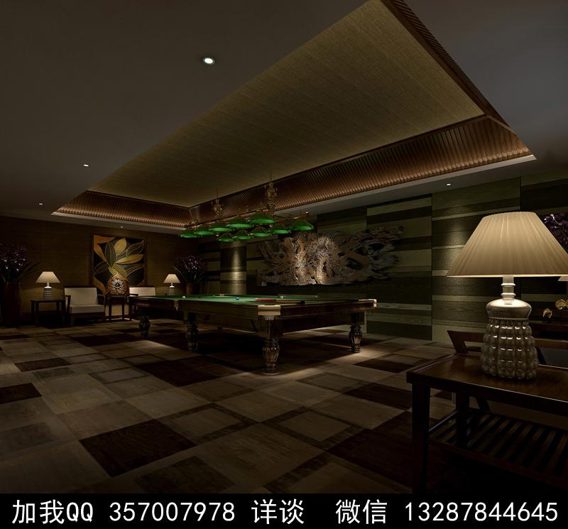 台球厅设计案例效果图_图1-12