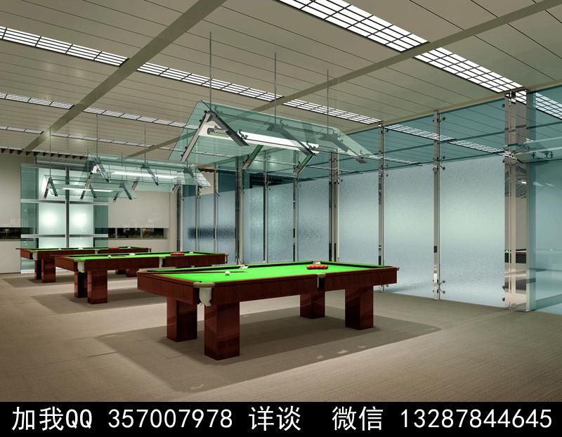 台球厅设计案例效果图_图1-9