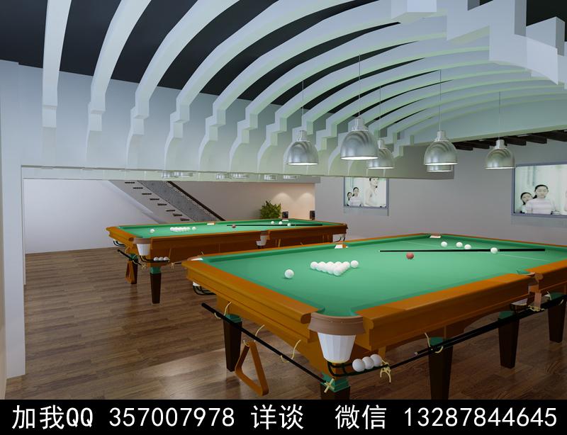 台球厅设计案例效果图_图1-10