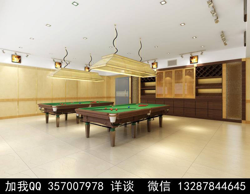 台球厅设计案例效果图_图1-5