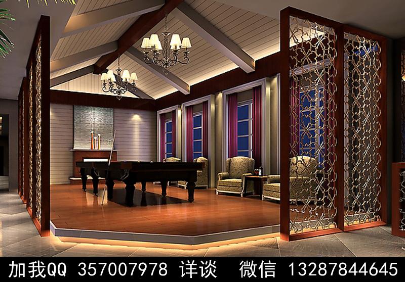 台球厅设计案例效果图_图1-1