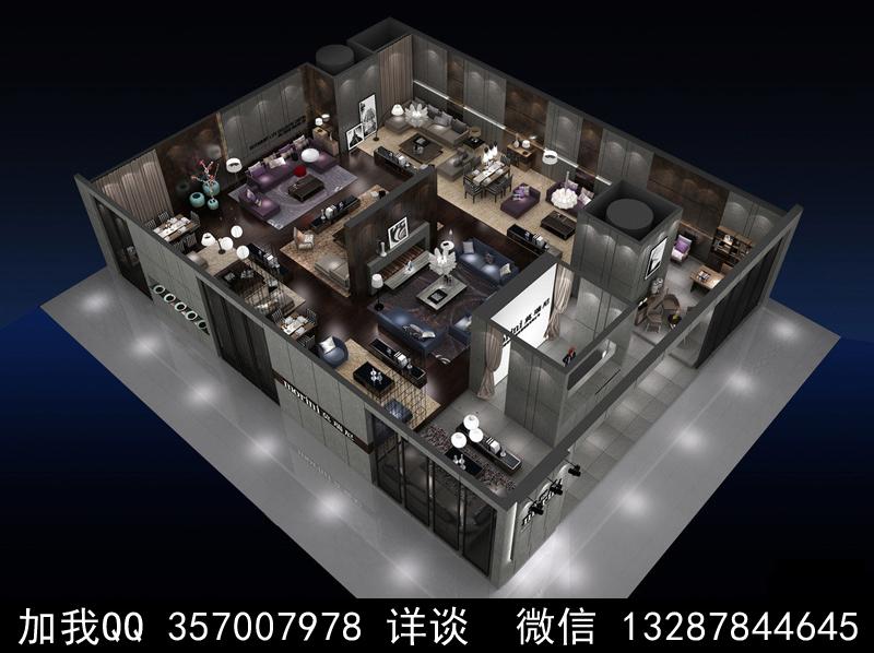 家具展厅设计案例效果图_图1-17