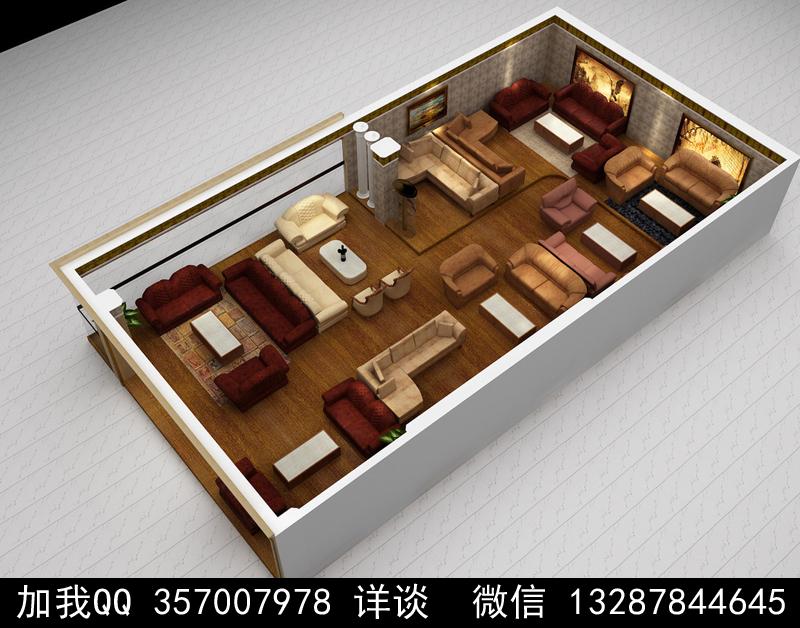 家具展厅设计案例效果图_图1-19