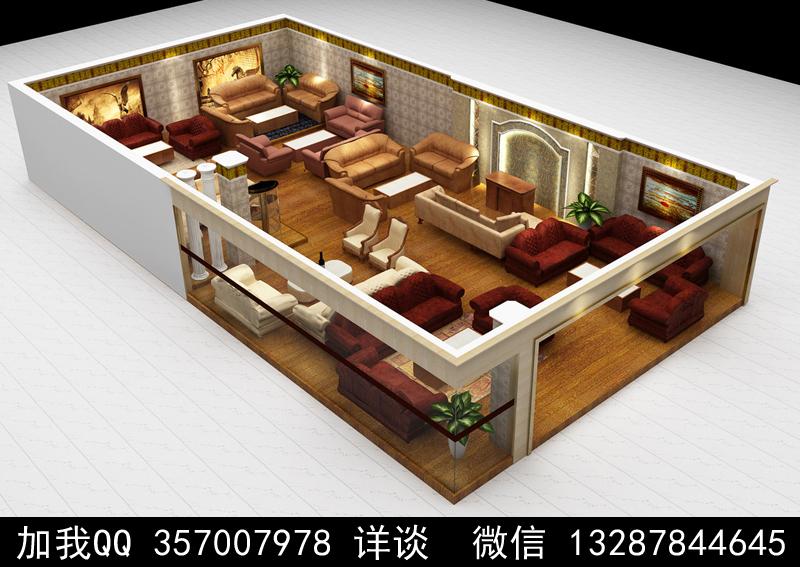 家具展厅设计案例效果图_图1-20