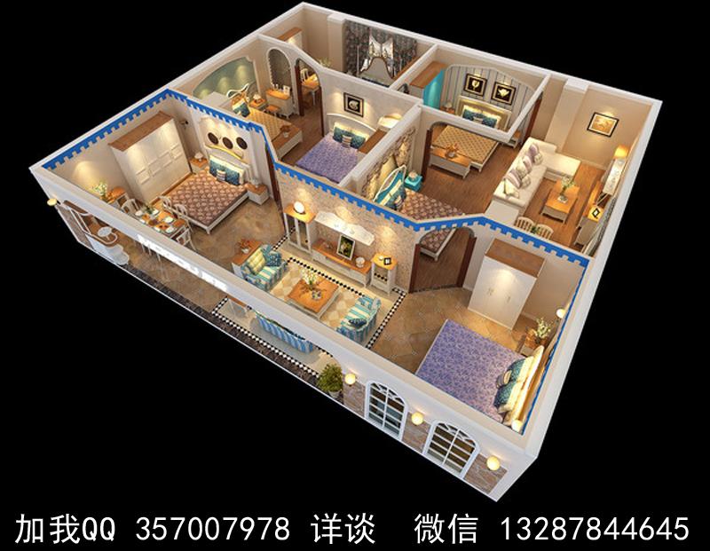 家具展厅设计案例效果图_图1-8