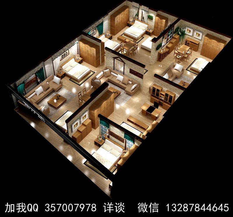 家具展厅设计案例效果图_图1-9