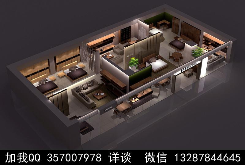 家具展厅设计案例效果图_图1-3