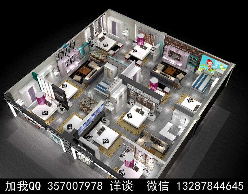 家具展厅设计案例效果图_图1-2