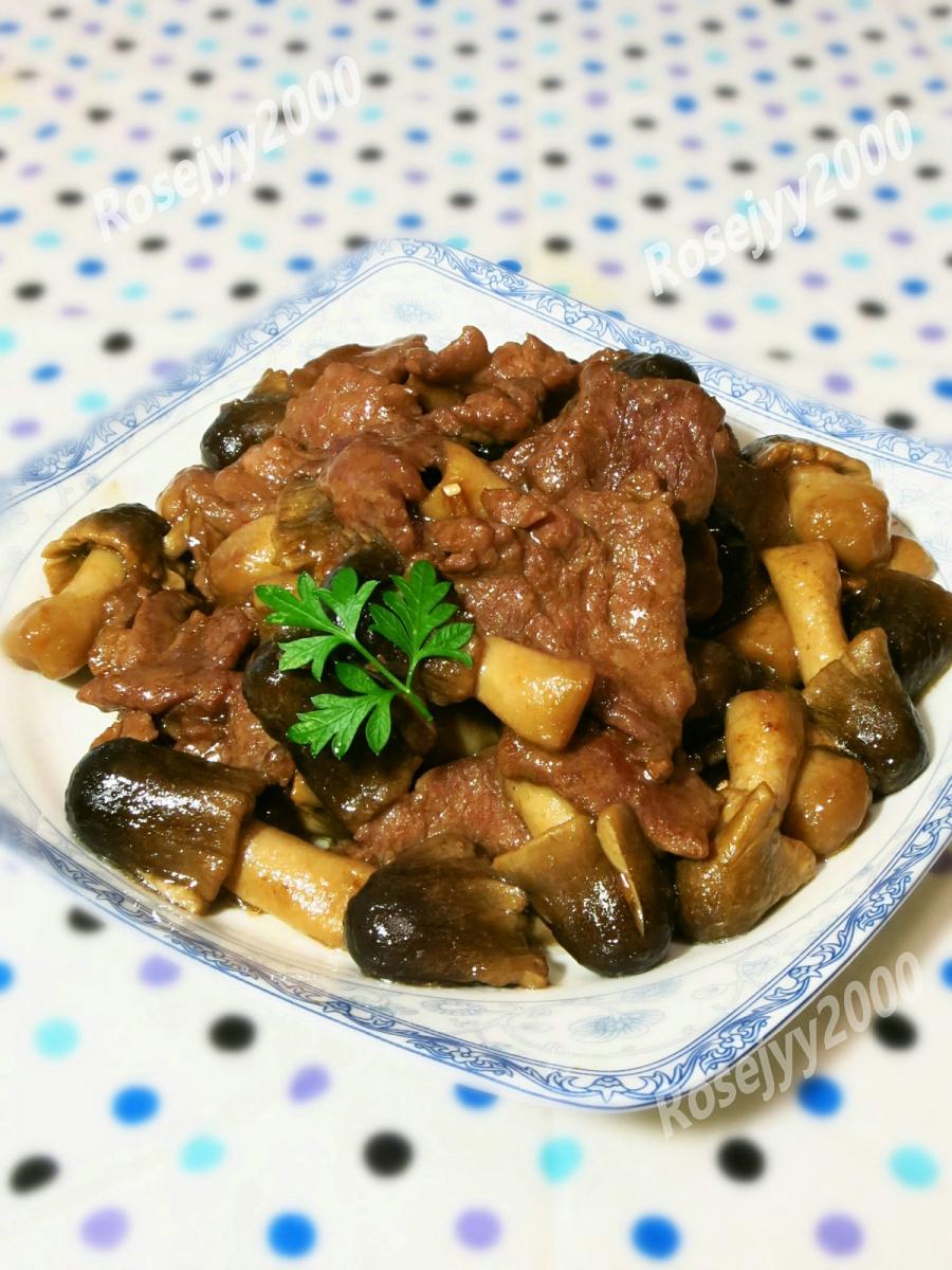蠔油草菇牛肉_图1-3