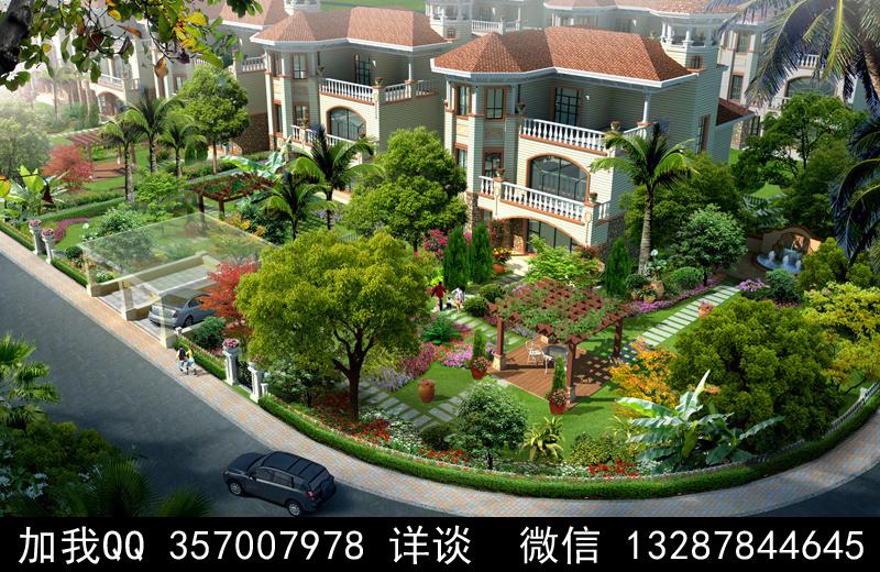 别墅院子设计案例效果图_图1-45