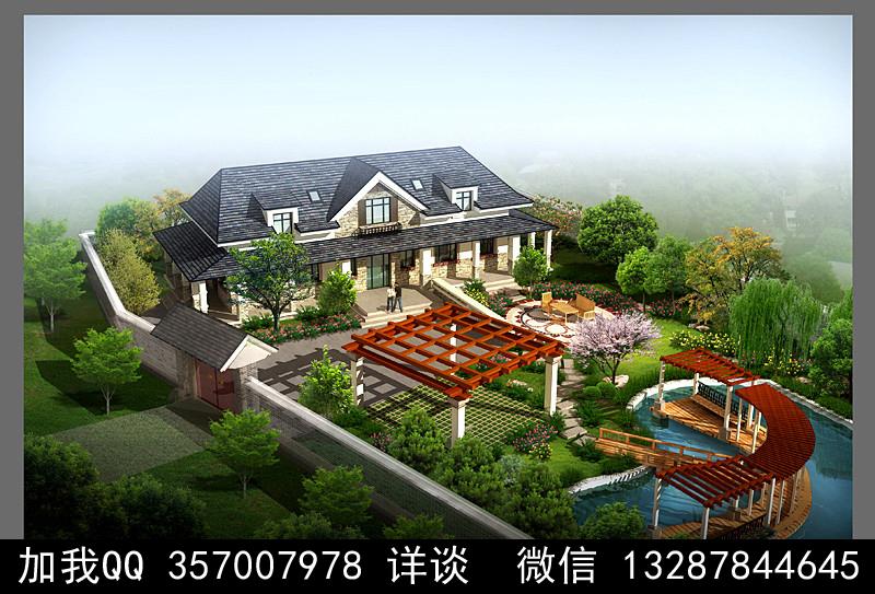 别墅院子设计案例效果图_图1-44
