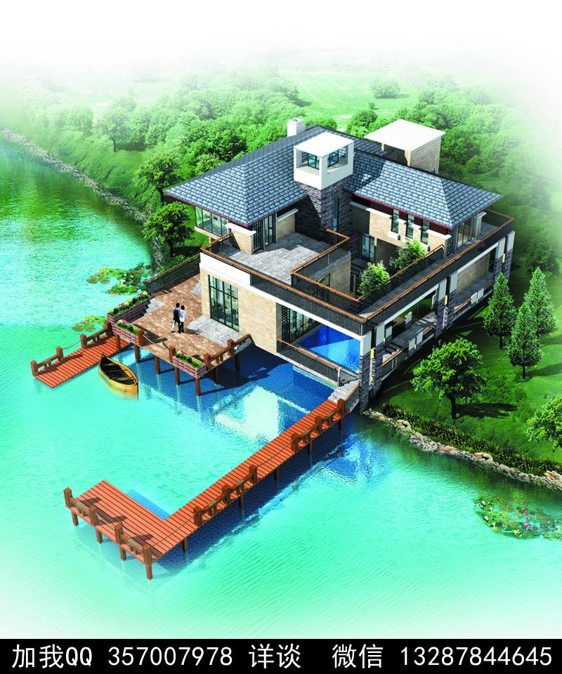 别墅院子设计案例效果图_图1-41
