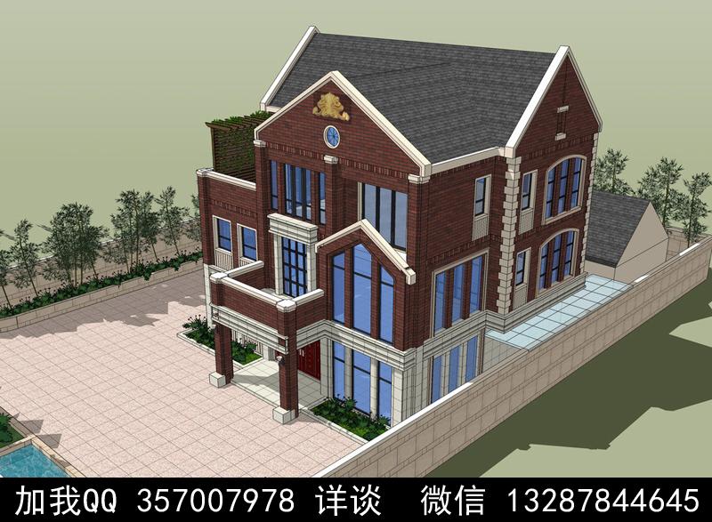 别墅院子设计案例效果图_图1-36