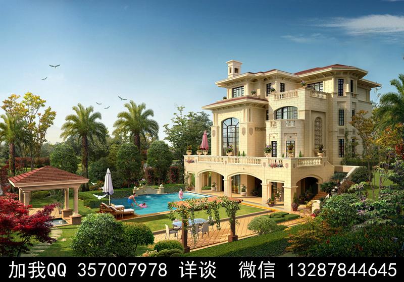 别墅院子设计案例效果图_图1-37