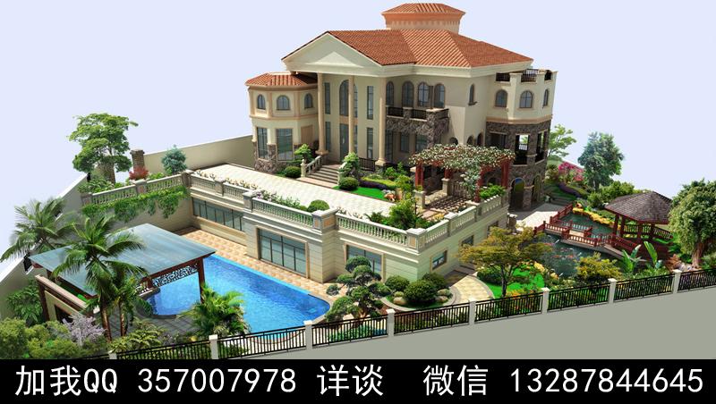 别墅院子设计案例效果图_图1-38
