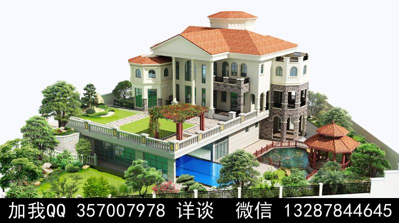 别墅院子设计案例效果图_图1-39