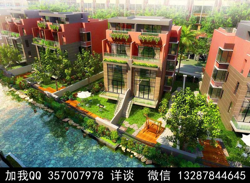 别墅院子设计案例效果图_图1-40