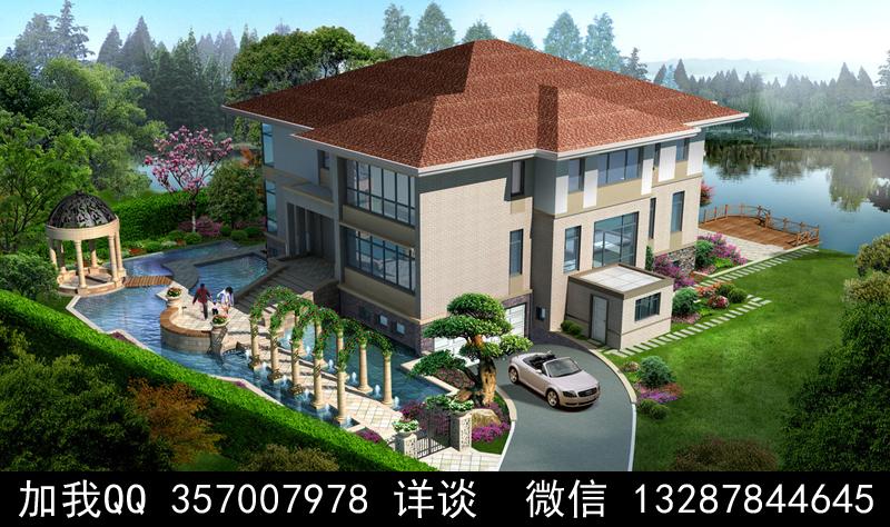 别墅院子设计案例效果图_图1-35