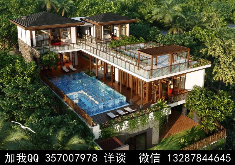 别墅院子设计案例效果图_图1-34