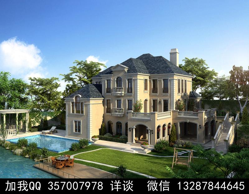 别墅院子设计案例效果图_图1-33