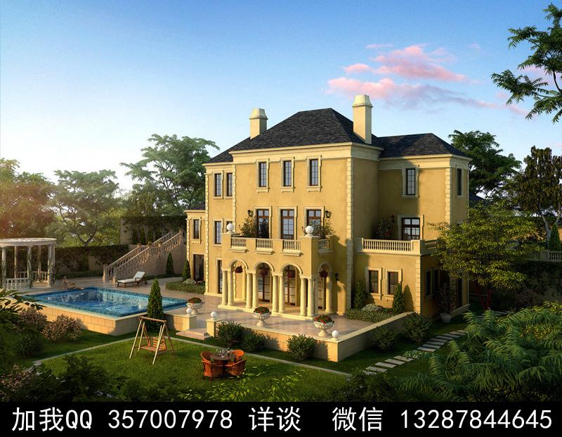 别墅院子设计案例效果图_图1-32