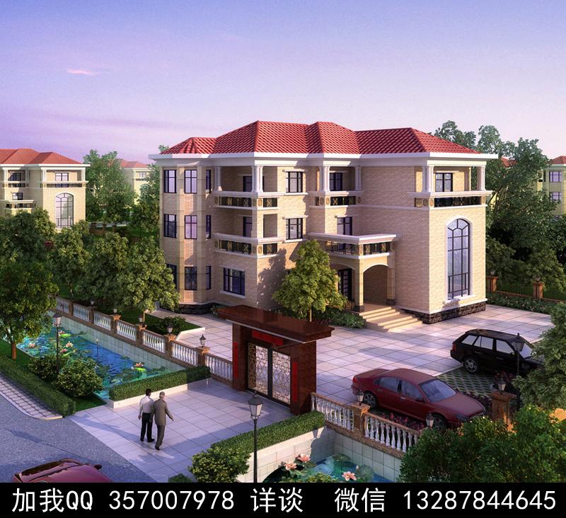 别墅院子设计案例效果图_图1-31