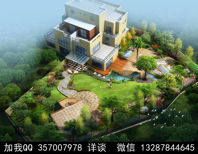 别墅院子设计案例效果图_图1-26
