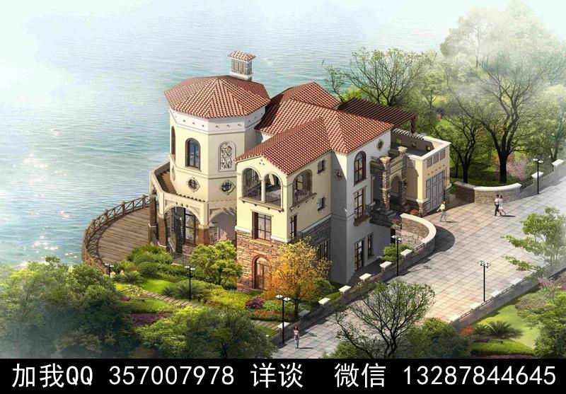 别墅院子设计案例效果图_图1-27
