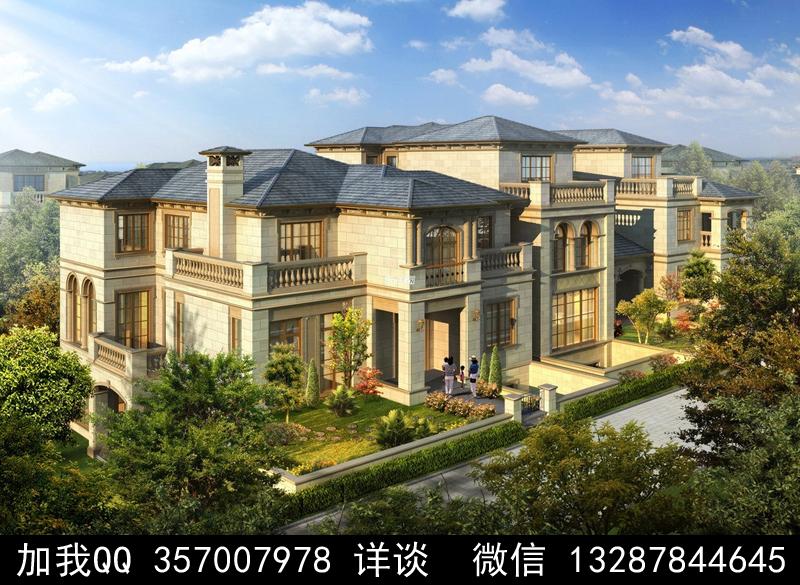 别墅院子设计案例效果图_图1-28
