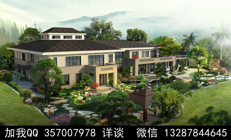 别墅院子设计案例效果图_图1-30