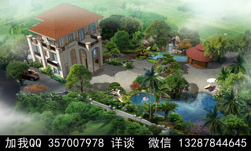 别墅院子设计案例效果图_图1-24