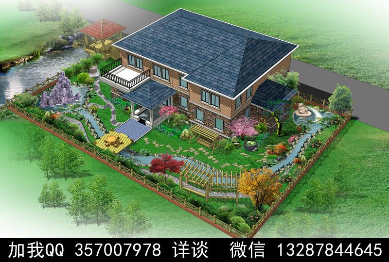 别墅院子设计案例效果图_图1-22